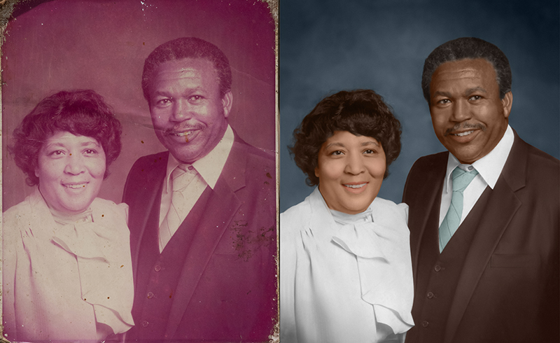 Old photo restoration services for marriage photos